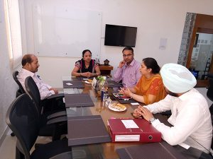 Meeting with Mr. Chandra Shekhar on 1 April 2017