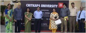 Science Technology and Environment Principal Secretary, with officials from PSCST visited Chitkara University on 31st July 2019