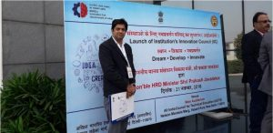 Dr Sachin Ahuja attended launch of institution innovation council ceremony at HQ, New Delhi.