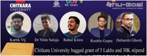 CURIN researchers win 5 lac in India Innovation Challenge Design Contest 2018