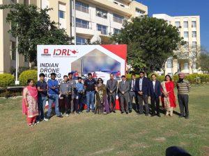 Ms Bhanu coordinating the drone league in IDRL 2018 at Chitkara University Punjab.