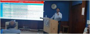 Dr. Rajnish Sharma delivered an invited talk at SSPL, New Delhi