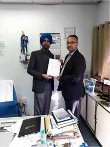 VLSI CoE, Chitkara University signed an NDA with Semiconductor Complex Limited, Mohali today on 30th November.