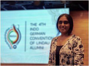 Dr. Varsha Singh, AP CURIN represented Chitkara University at Indo-German Convention of Lindau Alumini
