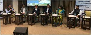 Dr. Madhu Chitkara V.C. Chitkara University & Dr Archana Mantri Pro-VC CURIN address at innovation led growth prospects for Chandigarh region on 8 March 2019