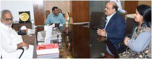 Dr S N Panda interacted with Governor of Odisha Prof Ganeshi Lal.