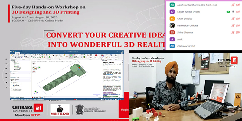 3D design and 3D printing workhsop