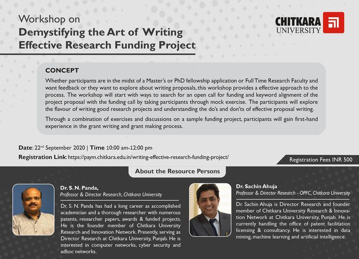 Art of writing research proposal