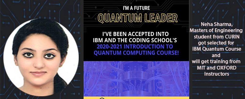 CURIN student got selected for training in IBM Quantum Course