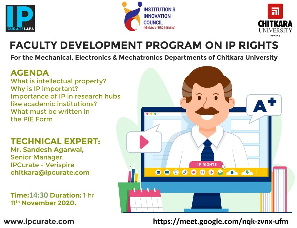 Faculty Development Program on IP right