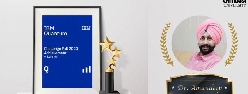 Dr. Amandeep earned IBM Quantum Advanced Level Bandge